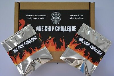 2 x One Chip Challenge chilli chips! Carolina Reaper. Nacho EXTREAMLY HOT!!!