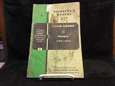 Vintage John Deere Operators Manual - 15 Rotary Chopper - OM-E30-358
