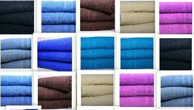 6 x Super Jumbo Bath Sheets Egyptian Combed Towels Extra Large Size 100 x 210 cm