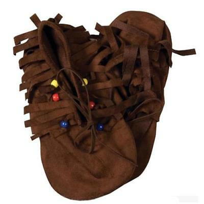 Native American Costume Moccasin Shoes Child