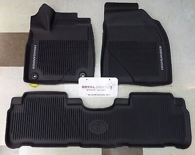 Toyota Highlander 2014 - 2018 All Weather Floor Liners Genuine OEM OE