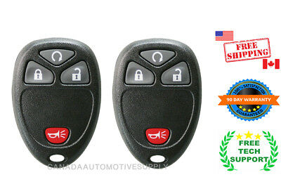 2 New Replacement Keyless Remote Control 4 button Fits Chevy 15114374 KOBGT04A