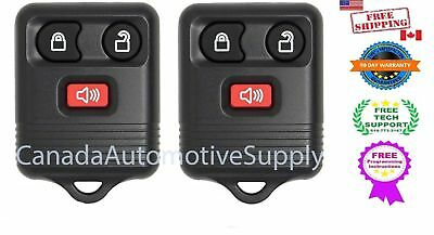 2 New Replacement Keyless Entry 3 button Remote Fob Fits Ford Mercury CWTWB1U345