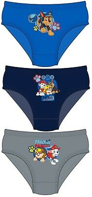 Boys Kids Paw Patrol Chase Pants Underwear Briefs Knickers Set 1-5 Years 3 Pack
