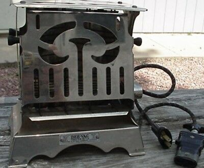 Vintage Bee Vac electric toaster 1920's flip  side  Works