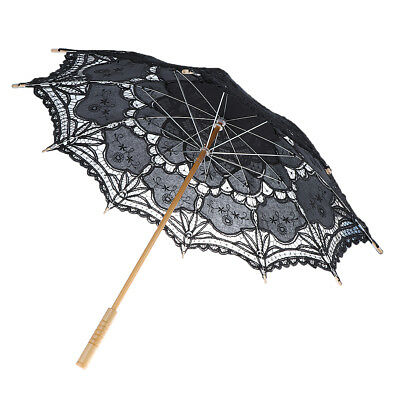 Retro Bridal Lace Cotton Women Parasol Sun Umbrella Decoration Wedding Party