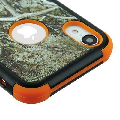 For Apple iPhone 10 XR HYBRID Armor Case Shockproof Rugged TPU Cover Camouflage