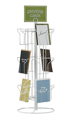 "12-Pocket Rotating Greeting Card Rack - 25""H x 12""D"
