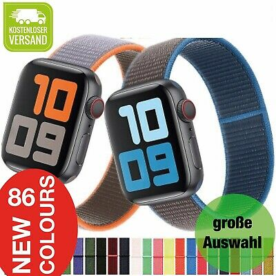 Für Apple Watch Armband Nylon iWatch Serie 5/4/3/2 Sport Loop 38 40 42 44 mm