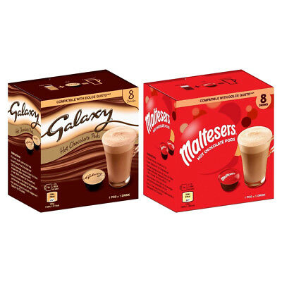 Galaxy & Maltesers Dolce Gusto Compatible Hot Chocolate Pods 8's