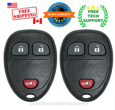 2 New Replacement Keyless Remote Control Key Fob For Chevy Buick Saturn 15777636
