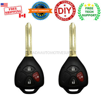 2 New Remote Head Key Combo 3 Button For TOYOTA YARIS 2007-2013 4D67 MOZB41TG