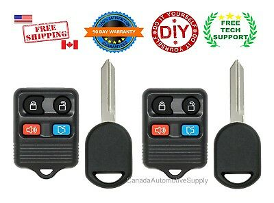 2 New Replacement Keyless Entry Remote Control Key Fobs For FORD LINCOLN MERCURY