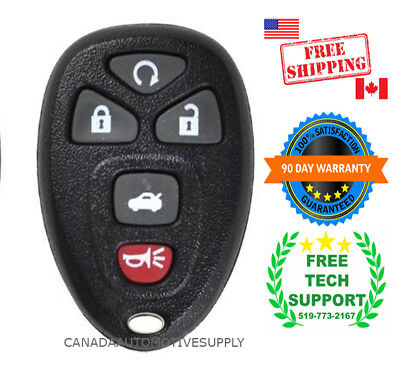 1 New Replacement Keyless Remote Control 5 button For GM Chevy 22733524 KOBGT04A
