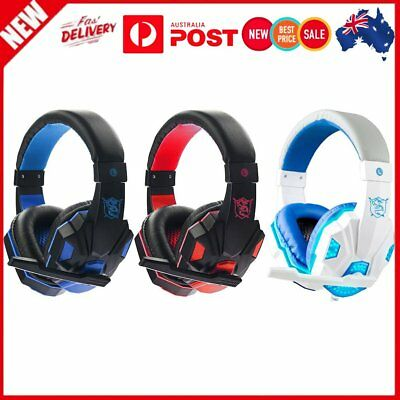 SY830MV 3.5mm surround stereo gaming headset headphone with LED LED light EW
