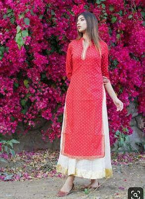Indian Bollywood Designer indo western gown Kurta Kurti women ethnic dress -op16