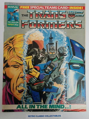 Marvel UK - The Transformers - Comic - No. 64 - 7th June. 1986