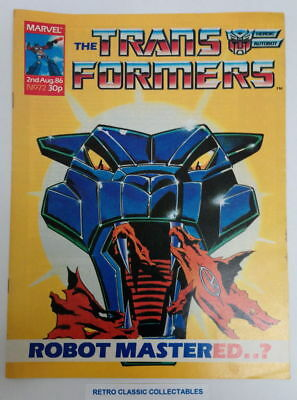 Marvel UK - The Transformers - Comic - No. 72 - 2nd Aug. 1986