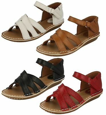 5d69a960706 CLARKS BAY PRIMROSE - White Leather (Cream) Womens Sandals Size UK ...