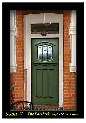 Solid wood & Stained glass exterior Door   SGDH 44 WOW