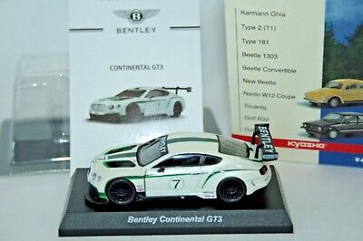 [Near Mint!]  Kyosho 1/64 Bentley Continental GT3 Mint w/Box,Card from Japan
