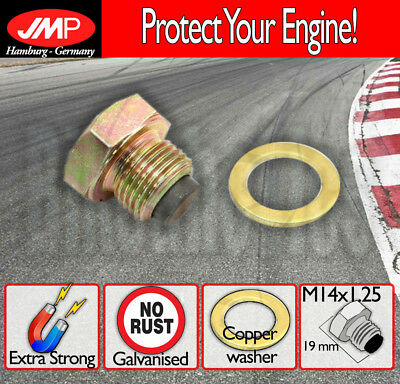 JMP Magnetic Oil Drain Plug - M14x1.25 + washer for Suzuki Scooters