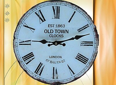 Wall Clock Old Town Glass Batt D.30cm Collector Gift in Vintage Aesthetics
