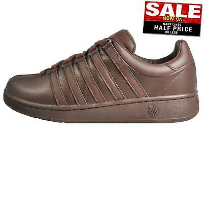 K Swiss Classic Vintage Men's Retro Casual Trainers Sneakers Brown