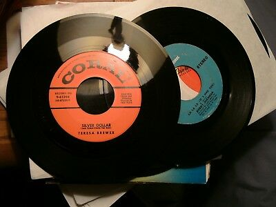 """Nice Lot Of 100 45's Records 7"""" 45 rpm Mix"""