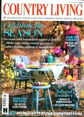 Country Living Magazine Issue November 2018 ~ New ~
