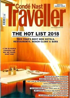 Conde Nast Traveller Magazine ~ The Hot List 2018 Special ~ New ~