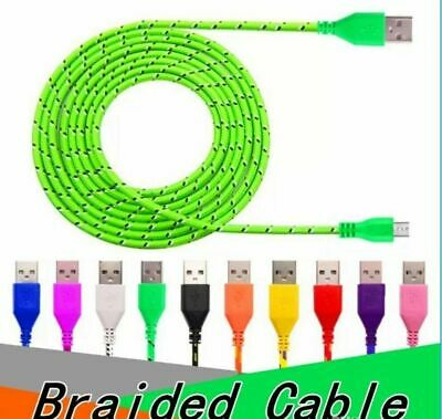 6/10FT Lot Braided Type C Charging Cable Data Sync USB-C Cord Power Charger NEW