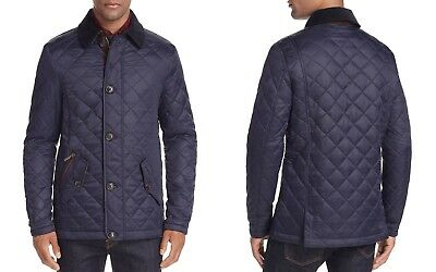 Barbour Men's Fortnum Quilted Jacket Navy Large NWT $349