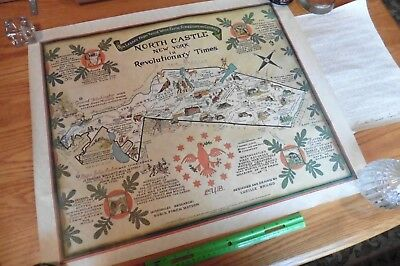Map of North Castle NY in Revolutionary Times Pictorial History vintage 1975