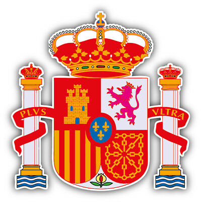 Spain Coat Of Arms Car Bumper Sticker Decal - 9'', 12'' or 14''