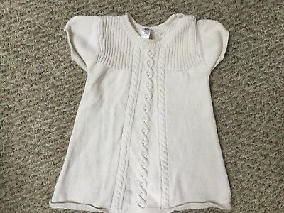 4363b932e BABY GAP GIRLS Ivory Cable Knit Sweater Dress 18 -24 Months NWT ...