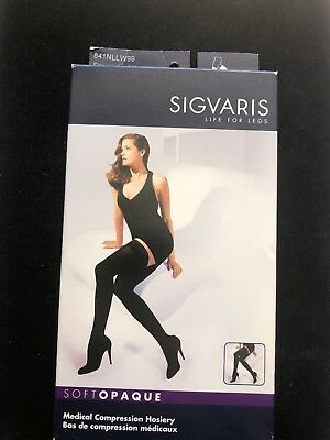 Sigvaris Soft Opaque Medical Compression Hosiery Black Size:LL - 15-20 mmHg