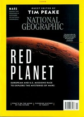 National Geographic Magazine November  2018 ~ Guest Edited By Tim Peake ~ New ~