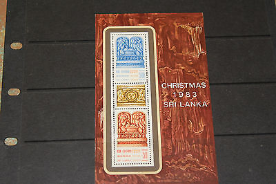 Sri Lanka 1983 Christmas  Minature Sheet Fine M/n/h