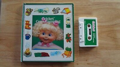 Rare 1986 Cricket Goes Camping Story Book & Cassette!Vintage Playmates Toys Doll