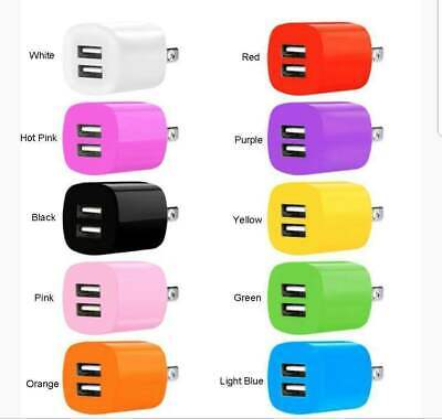 2.1A/1A Dual 2 Port USB Portable Travel AC Plug Wall Power Adapter Charger Lot