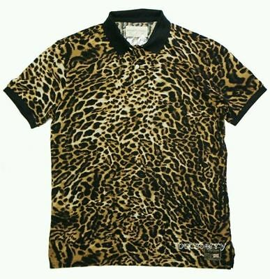 e77d15412d0b Denim Supply Ralph Lauren Men Cheetah Print Leopard Pique Celebrity Polo  Shirts