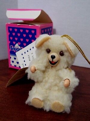 "Russ 1986 Snuggle Bear Hug Hug Toy 3 1/2"" - Fabric Softener Lever Bros. New Tags"