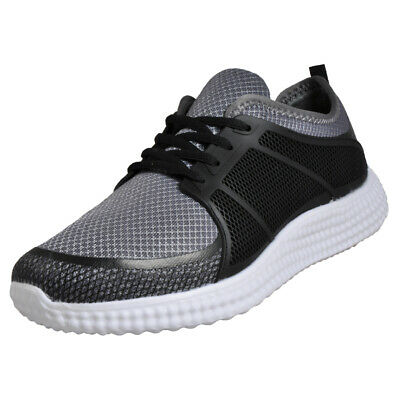 Airtech Manhatten Ultraleichten Herren Fitness Workout Jogging Turnschuhe Grau