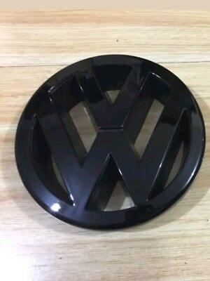Black Gloss Volkswagen VW Golf Mk5 Front Badge Logo Bonnet Emblem TOP Quality