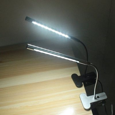 Dimmable USB LED Desk Table Lamp Switch Eye Care Reading Light Clamp Clip On TOP