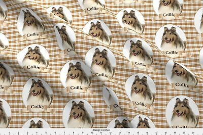 Collie Dog Pet Animal Fabric Printed by Spoonflower BTY