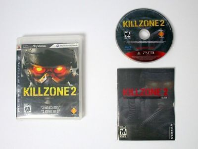 Killzone 2 PS3 Sony Playstation 3 Complete CIB! PERFECT DISC! Fast Ship WORLD!!!