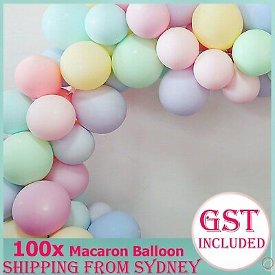 100Pcs 25cm Macaron Latex Helium Balloon Large Circular Balloons Birthday Weddin
