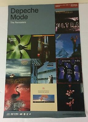 Depeche Mode Official Promotional Poster 11x17 The Remasters 2007 Rhino Reprise